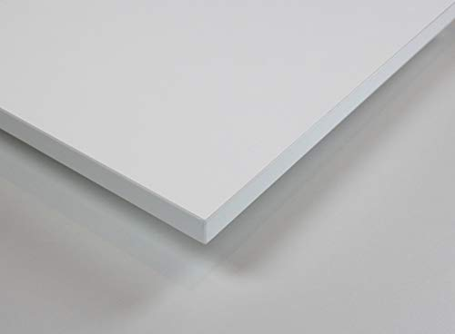 MySpiegel.de Tischplatte Holz Zuschnitt nach Maß Beschichtete Holzdekorplatte in 25mm (140 x 70 cm, Weiß)