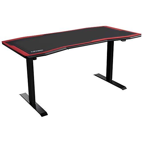NITRO CONCEPTS D16E Gaming Tisch - Schreibtisch - Computertisch - 1600x800mm - elektrisch höhenverstellbar - Carbon Black (Schwarz)