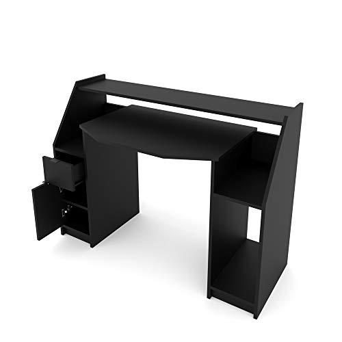 Vicco Computertisch Joel PC-Tisch Schwarz Gamingtisch Schreibtisch...
