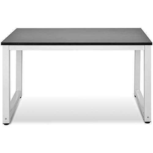 Merax PC Tisch Computertisch Schreibtische Bürotisch Arbeitstisch Officetisch PC-Tisch Esstisch für Zuhause Büro Schlafzimmer Rleichterte Montage, Schwarz-Weiß