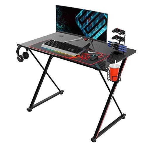 EUREKA ERGONOMIC Gaming Tisch X39 Gaming Schreibtisch Klein Gaming...