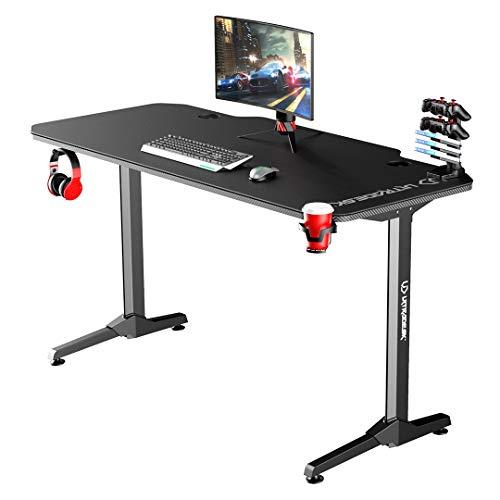 Ultradesk Frag Schwarz - Computertisch, Schreibtisch, Gaming Tisch mit Mauspad und Zubehör, L: 140cm T: 66cm H: 76cm