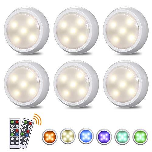 LED Schrankleuchten mit Fernbedienung RGB Beleuchtung, Tomshine...