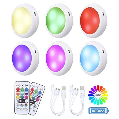 RGB Wiederaufladbare LED Schrankleuchten mit Fernbedienung...