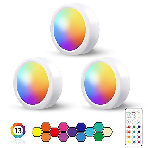 LED Spots RGB Batteriebetrieben mit Fernbedienung,13 Farbwechsel...