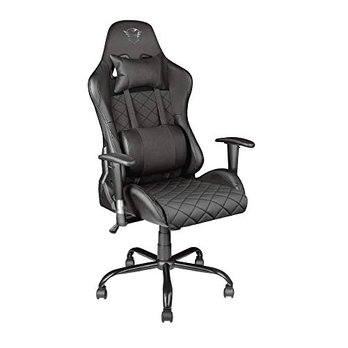 Trust GXT 707R Resto Gaming-Stuhl (Ergonomisch mit Höhenverstellbare Armlehnen) Schwarz