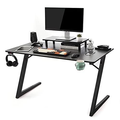 TOPSKY Gaming Tisch Zuhause Büro mit Getränkehalter Kopfhörer Haken...
