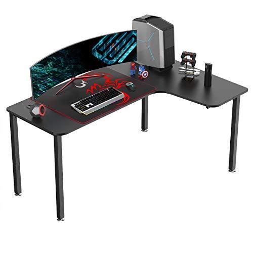EUREKA ERGONOMIC Gaming Tisch L60 Eckschreibtisch Gaming Büro...