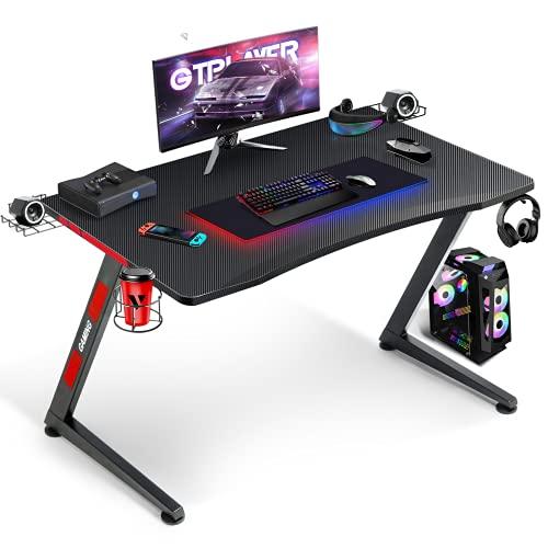 GTPLAYER Gaming Tisch Gaming Schreibtisch Gamer Tisch Ergonomischer PC...