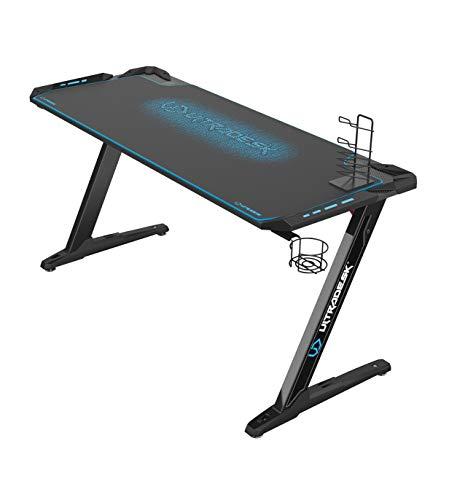 ULTRADESK Space XXL Blau - Gaming Tisch, Computertisch, großer...