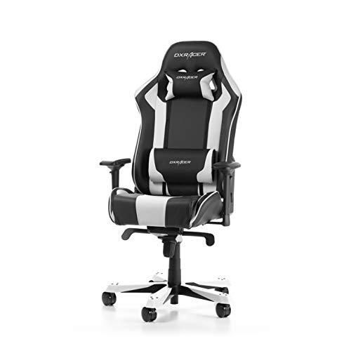DXRacer King Series K06-NW Gaming Stuhl aus Kunstleder, Schwarz-Weiß