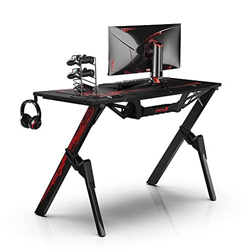 Dripex Ergonomischer Gaming Tisch, Schreibtisch Gaming mit Großer...