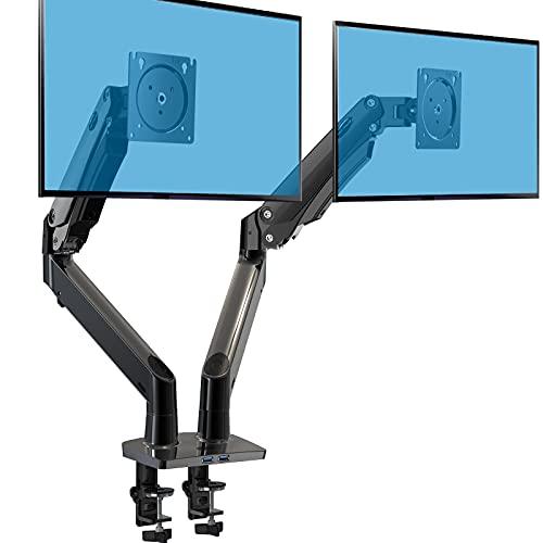 HUANUO Monitor Halterung 2 Monitore, Monitor Halterung Gasdruckfeder...