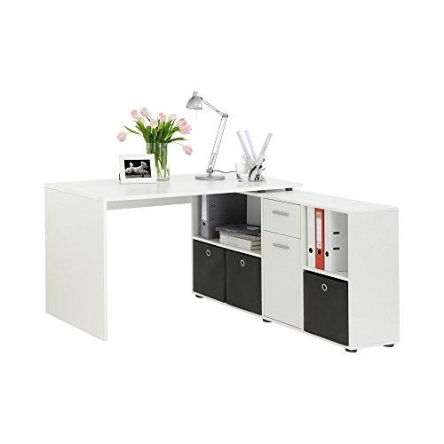 FMD Möbel 353-001 Schreibtisch-Winkelkombination Tisch ca. 136 x 75 x...