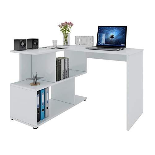 WOLTU® Schreibtisch TS64ws Computertisch Eckschreibtisch...