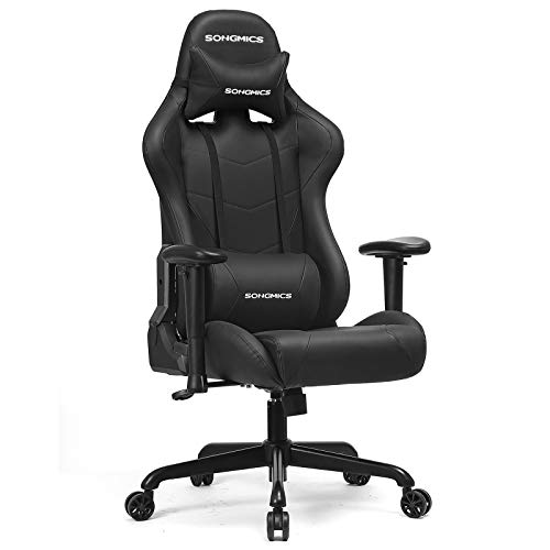 SONGMICS Gaming Stuhl, Bürostuhl, bis 150 kg belastbar,...