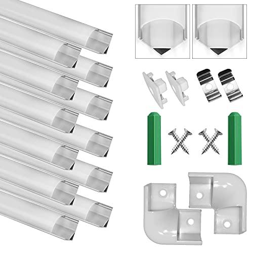 LED Aluminium Profil V-Form 12x1m,Led Aluminium Leisten LED-Kanäle...