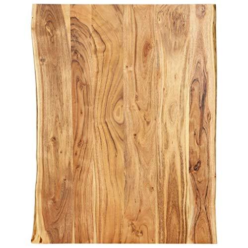 vidaXL Massivholz Tischplatte Baumkante Massivholzplatte Akazie 80x60x2,5 cm