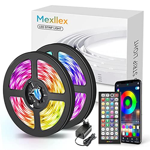 LED Strip 15M,Bluetooth LED Streifen 15m RGB LED Lichterkette Streifen...
