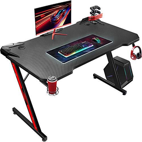 JUMMICO Gaming Schreibtisch Computertisch Pc Gamer Tisch Ergonomischer...
