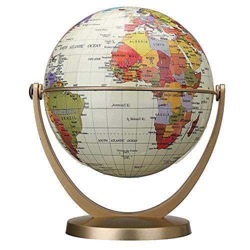 NLLeZ 1 STÜCK 360 Grad rotierende Globen Erde Ozean Globus Welt Geographie Map Tischtisch Büro Dekor Ornament (Farbe : Weiß)