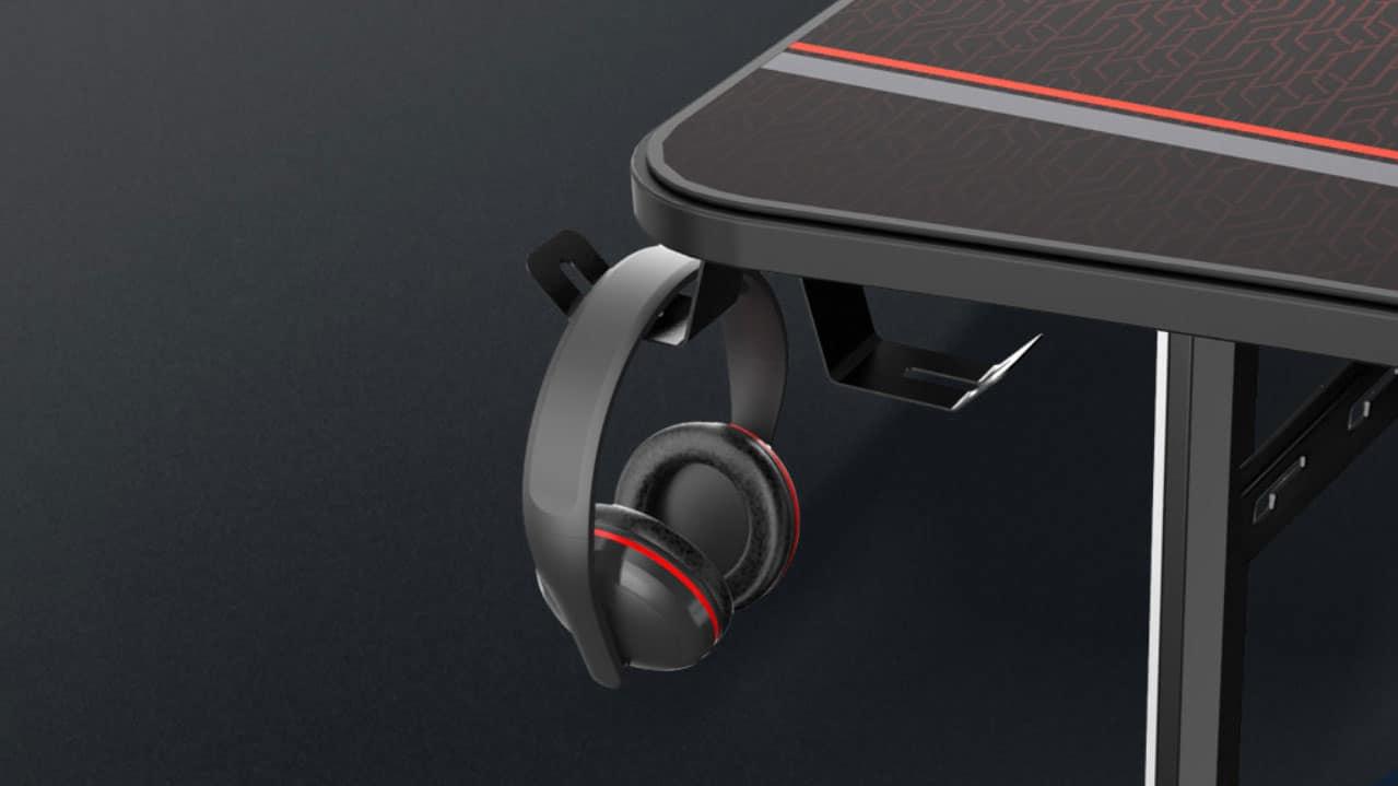 Gaming-Tisch mit Headset Halterung