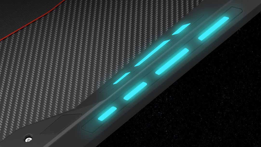Gaming-Tisch mit LED Beleuchtung
