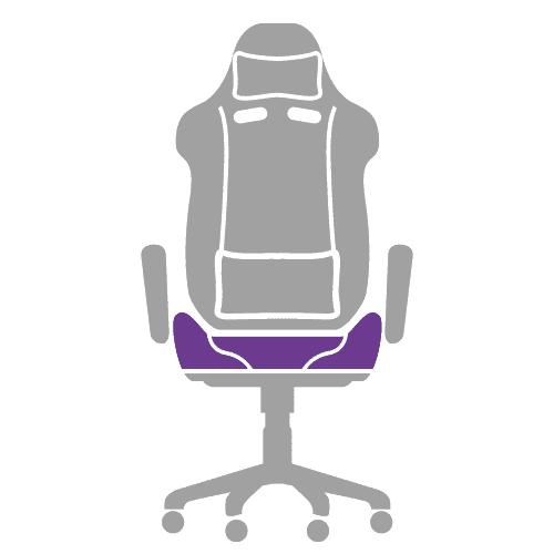 Die Sitzfläche vom Gamingstuhl