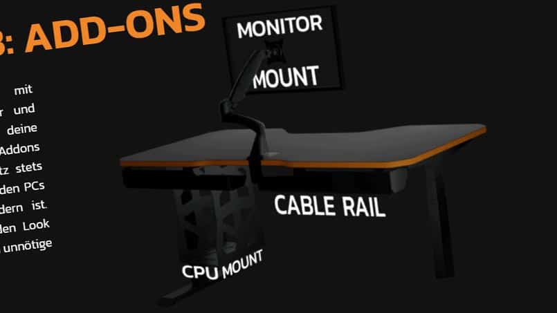Leetdesk Monitorhalterung Gaming Tisch