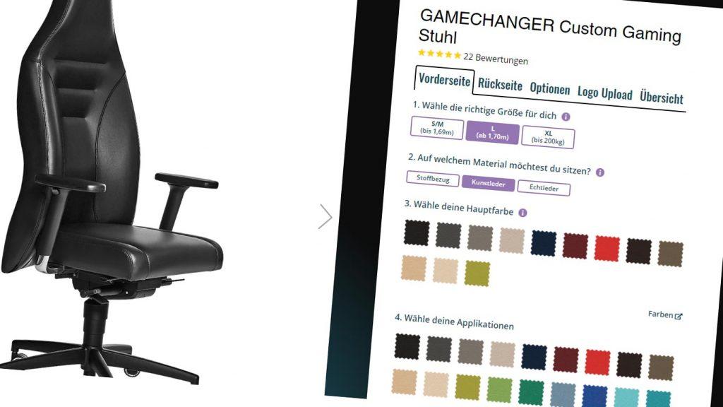 Gamechanger Gamingstuhl voll customisieren